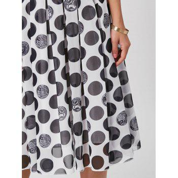 Off The Shoulder Polka Dot Midi Dress - XL XL