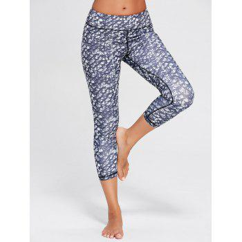Printed Capri Yoga Tights