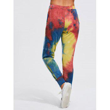 Jogger Pants with Colorful Splash-ink Print - S S