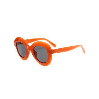 Street Snap Ombre Wide Frame Sunglasses - CLARET CLARET