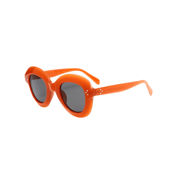 Street Snap Ombre Wide Frame Sunglasses -  CLARET