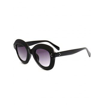 Street Snap Ombre Wide Frame Sunglasses - BLACK BLACK