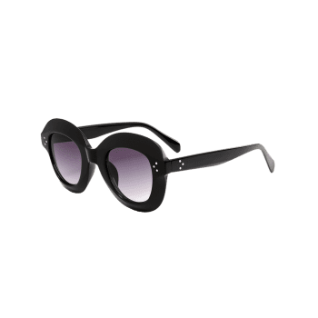 Street Snap Ombre Wide Frame Sunglasses - BLACK
