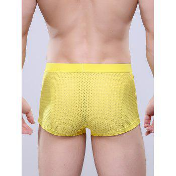 U Convex Pouch Openwork Boxer Brief - YELLOW YELLOW