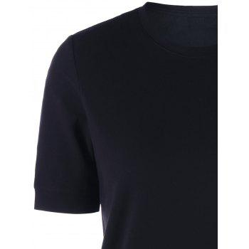 Crew Neck Basic T-shirt - L L