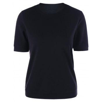Crew Neck Basic T-shirt - BLACK L