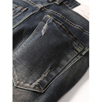 Scratch Straight Slim Fit Jeans - Noir 32