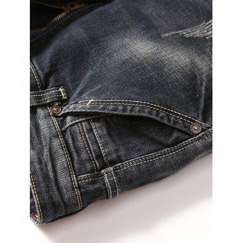 Scratch Straight Slim Fit Jeans - 36 36