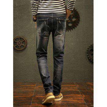 Scratch Straight Slim Fit Jeans - 38 38