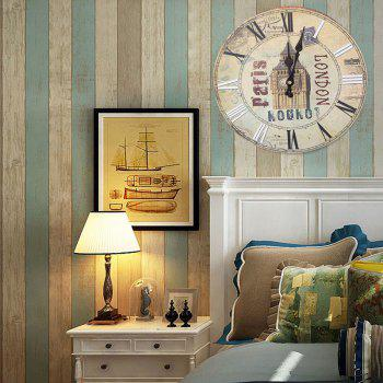 Horloge murale analogique Big Ben Round Wood - RAL Beige