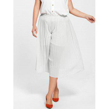 Plus Size Pleated Wide Leg Pants