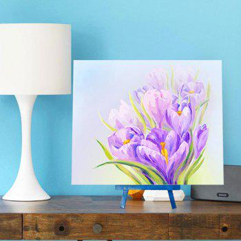 Handmade Daffodils 5D Resin Diamond Paperboard Painting -  PURPLE