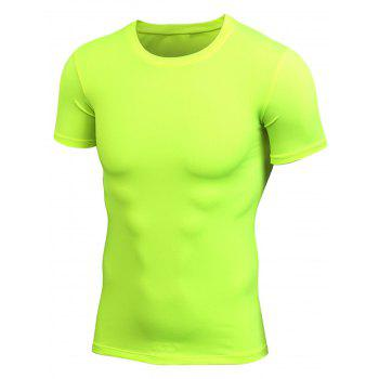 Stretchy Fitted Short Sleeve Gym T-shirt