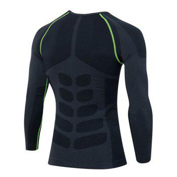 Stretchy Quick Dry Long Sleeve T-shirt - GREEN GREEN