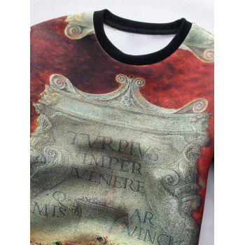 Sweatshirt à manches longues 3D Stele Graphic Print - multicolorcolore 3XL