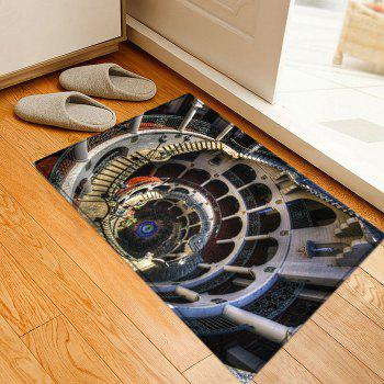 European Style Building Print Indoor Outdoor Area Rug - W16 INCH * L24 INCH W16 INCH * L24 INCH