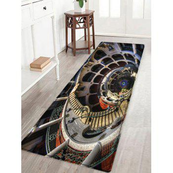 European Style Building Print Indoor Outdoor Area Rug - COLORMIX COLORMIX
