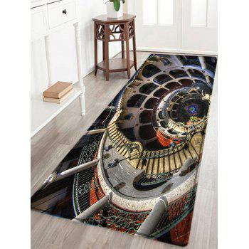 European Style Building Print Indoor Outdoor Area Rug - COLORMIX W24 INCH * L71 INCH