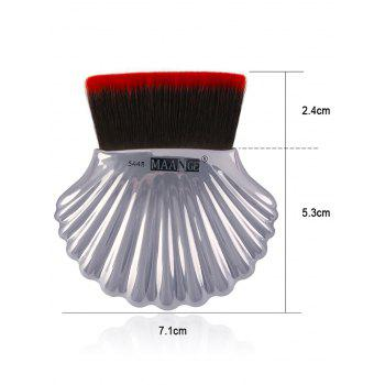 3Pcs Multipurpose Ocean Shell Shape Makeup Brushes Kit - SILVER