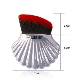 3 Pieces Multipurpose Ocean Shell Shape Makeup Brushes Kit - Argent