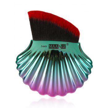 3 Pieces Multipurpose Ocean Shell Shape Makeup Brushes Kit - Rouge et Vert