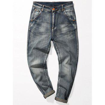 Fade Regular Fit Tapered Jeans - BLUE 40