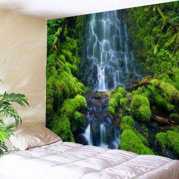 Waterproof Layered Waterfall Mountain Wall Decor Tapisserie - Vert W79 INCH * L79 INCH