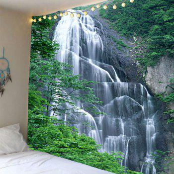 Waterproof Hanging Wall Decor Waterfall Printed Tapestry - GREEN W59 INCH * L51 INCH