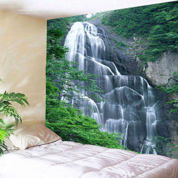 Waterproof Hanging Wall Decor Waterfall Printed Tapestry - GREEN W59 INCH * L59 INCH