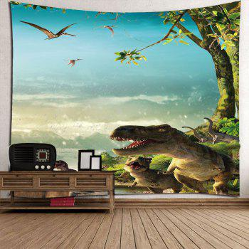 Wall Art Dinosaurs Printed Waterproof Tapestry - W79 INCH * L59 INCH W79 INCH * L59 INCH