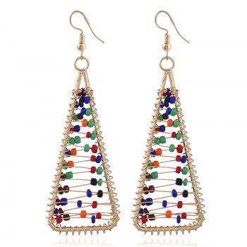 Beaded Triangle Statement Hook Earrings