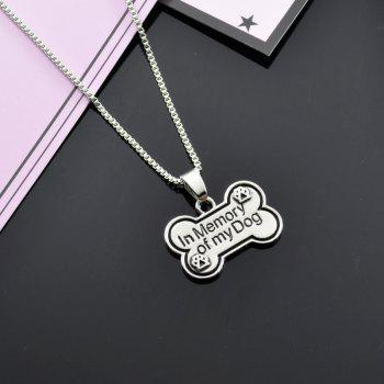 Bone Memory Dog Claw Footprint Charm Necklace