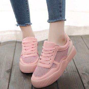Low-top Breathable Hollow Out Sneakers - PINK 38