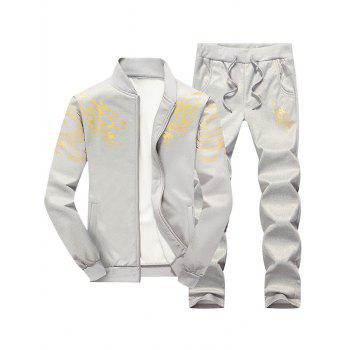 Totem Dragon Print Jacket and Sweatpants Twinset