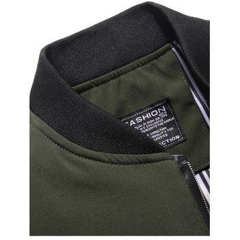 Casual Zipper Up Bomber Jacket - ARMY GREEN XL