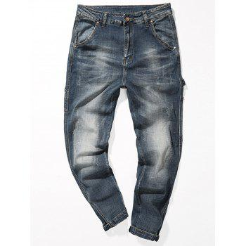 Fade Zipper Fly Tapered Jeans