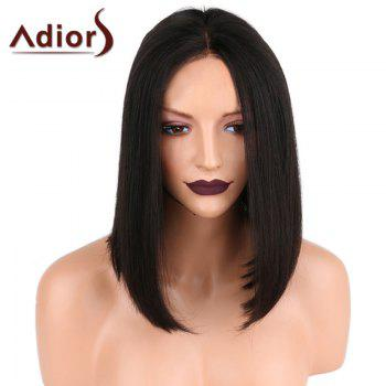Adiors Center Parting Shoulder Length Medium Straight Bob Synthetic Wig