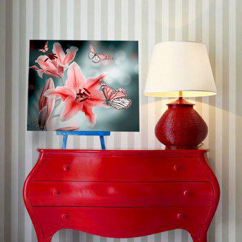 Butterfly Floral DIY 5D Resin Diamond Paperboard Painting - PINK