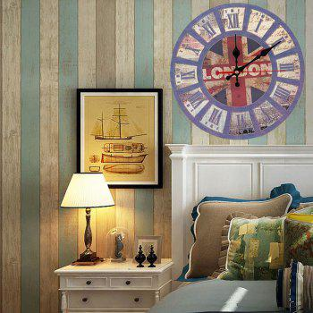 British Flag Wood Round Analog Wall Clock - BLUE 30*30CM