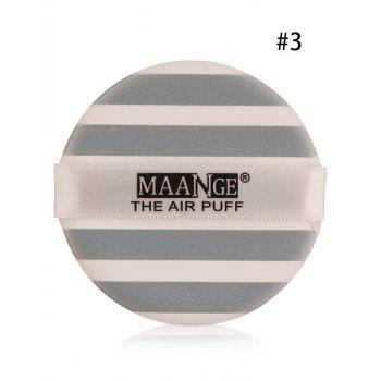 Portable Round Different Rinted Powder Puff with Box - #03