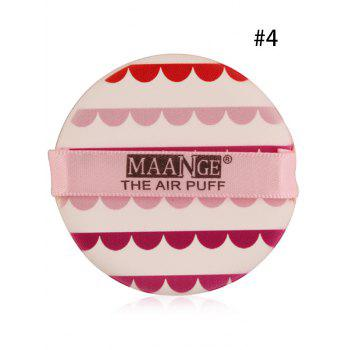 Portable Round Different Rinted Powder Puff with Box - #04