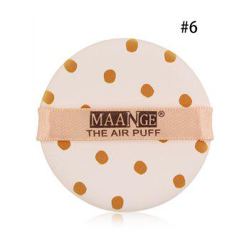 Portable Round Different Rinted Powder Puff with Box - #06