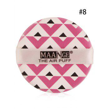 Portable Round Different Rinted Powder Puff with Box - #08
