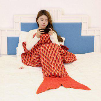 Peacock Pattern Knitted Sofa Bed Mermaid Blanket - 180*90CM 180*90CM