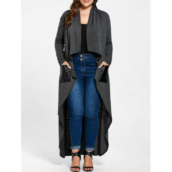 Plus Size Drape Duster Coat