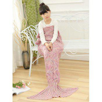 Sofa Sleeping Wave Knitted Mermaid Blanket For Kids