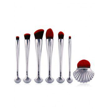 7Pcs Plating Sea Shell Shape Makeup Brushes Kit
