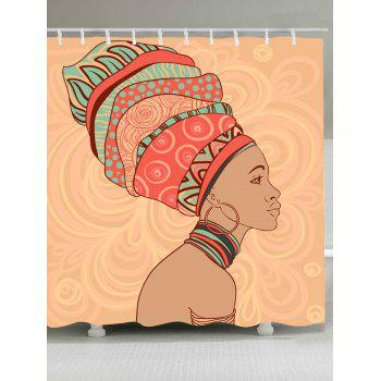 African Tribal Style Waterproof Shower Curtain