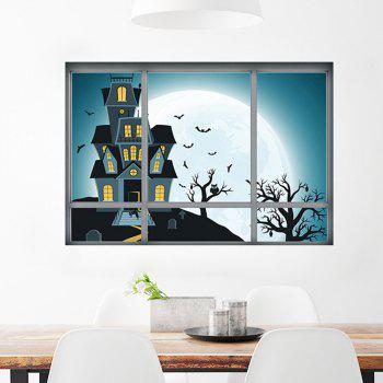 Cartoon Halloween Castle Wall Art Sticker