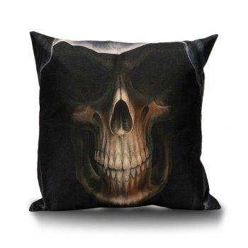 Hooded Skull Decorative Linen Pillowcase